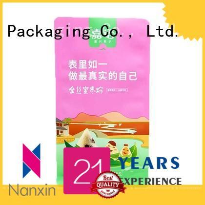 Nanxin Print & Packaging heat seal flat bottom gusset bags attractive snack