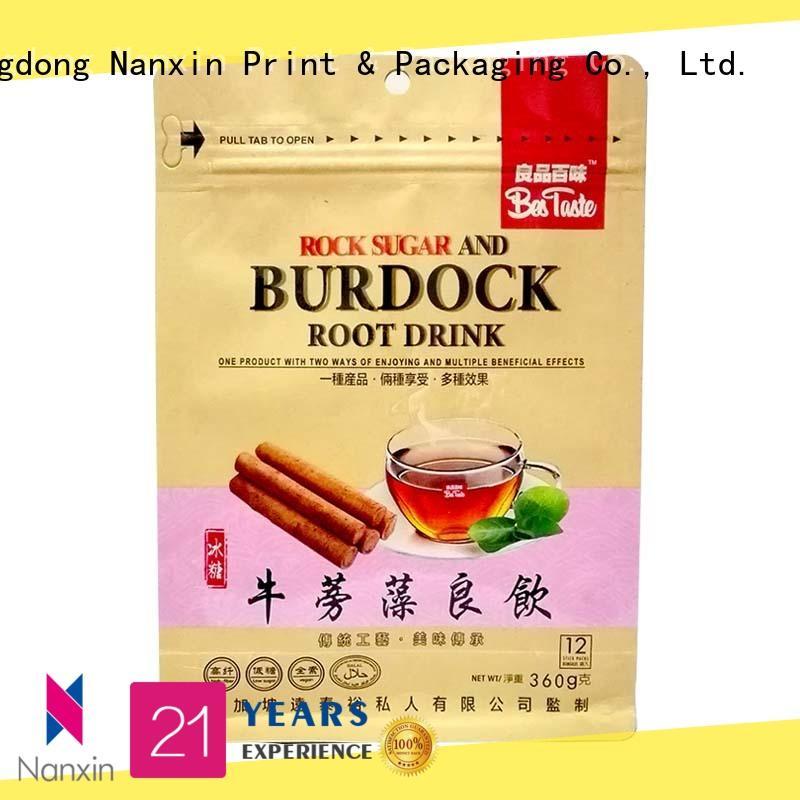 Nanxin Print & Packaging Custom flat bottom bag for business for snack