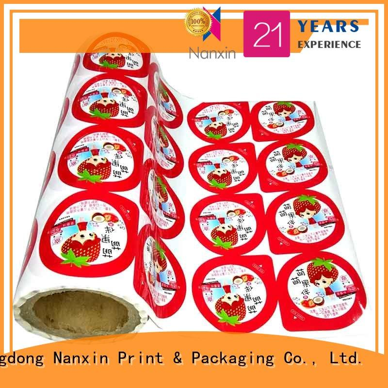 customized laminated packaging films metallic luster long save time cookies