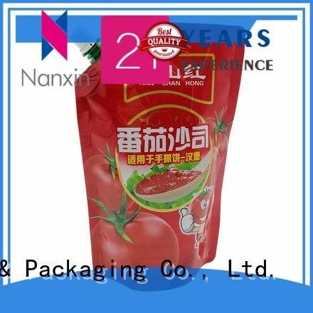Nanxin Print & Packaging nozzle spout pouch manufacturers for lotion