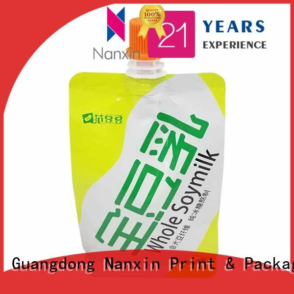 Nanxin Print & Packaging Latest spout bag manufacturers for yoghurt
