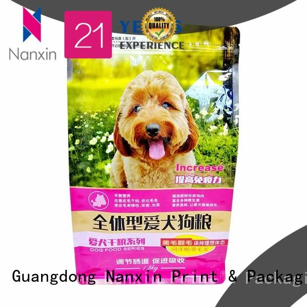 Nanxin Print & Packaging New flat bottom gusset bags factory for foods