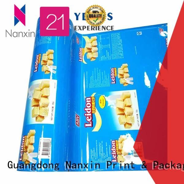 Nanxin Print & Packaging light proof packaging film roll pet/al/cpp cookies