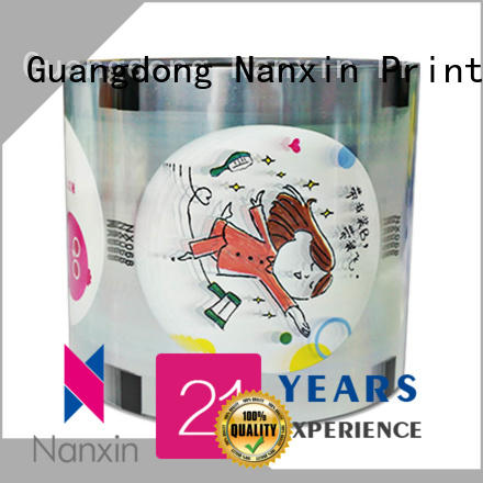 Nanxin Print & Packaging pet/cpp plastic cup sealing film company for shop mall
