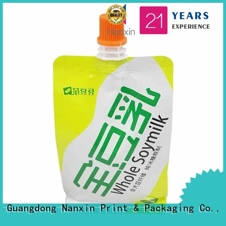 Nanxin Print & Packaging easy carry handle spout pouch packaging supply for yoghurt
