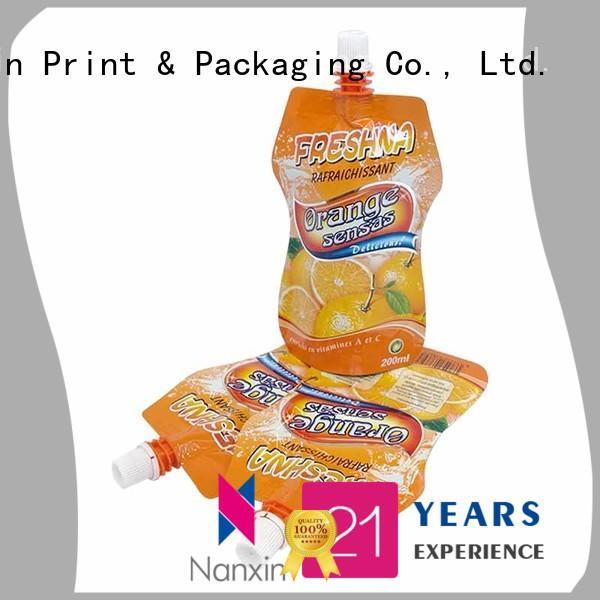 pet/pe spout pouch packaging flexible yoghurt Nanxin Print & Packaging