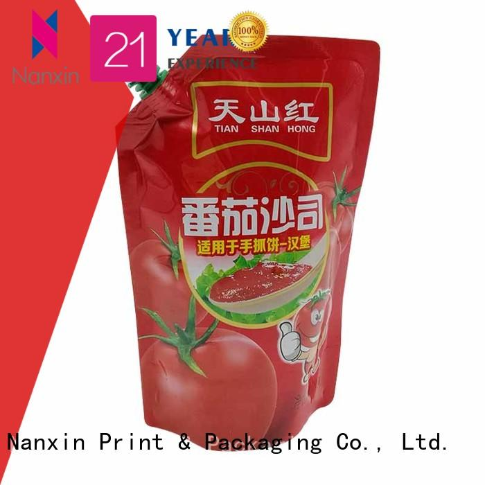 Nanxin Print & Packaging customized spout pouch manufacturers for lotion