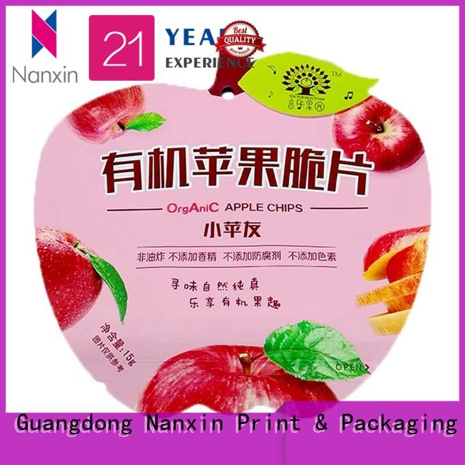 Nanxin Print & Packaging fashionable food packaging pouches gravure printing snacks