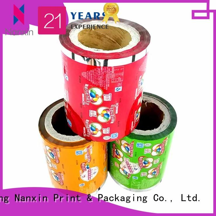 Nanxin Print & Packaging multicolored laminated film for food packaging low cost cookies