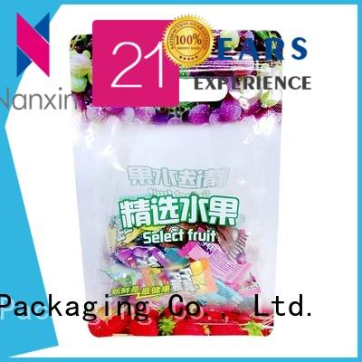 Nanxin Print & Packaging pet/pe packaging pouches supply for foods