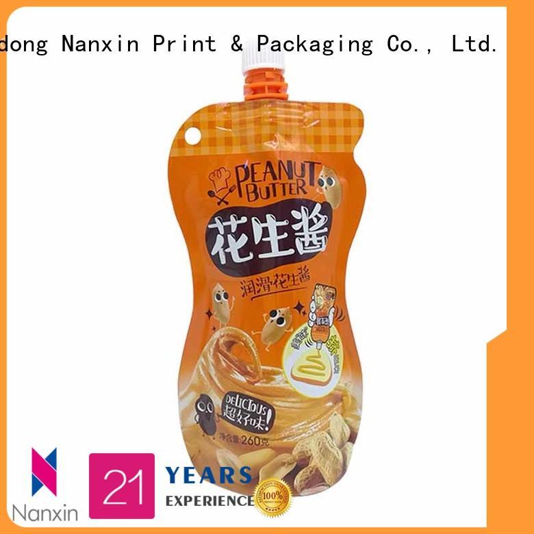 Nanxin Print & Packaging convenient used liquid spout bag high capacity yoghurt