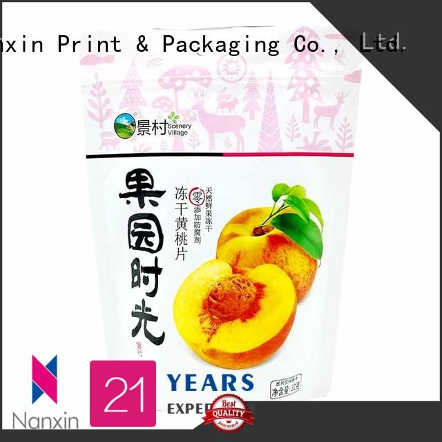 Nanxin Print & Packaging easy shelf display stand up zipper bag nice color printing dried fruit or vegetable