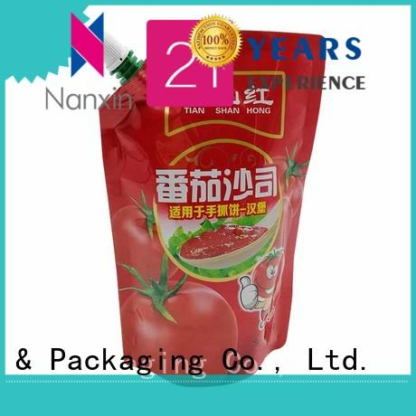Nanxin Print & Packaging easy carry handle spout pouch packaging hygienic lotion