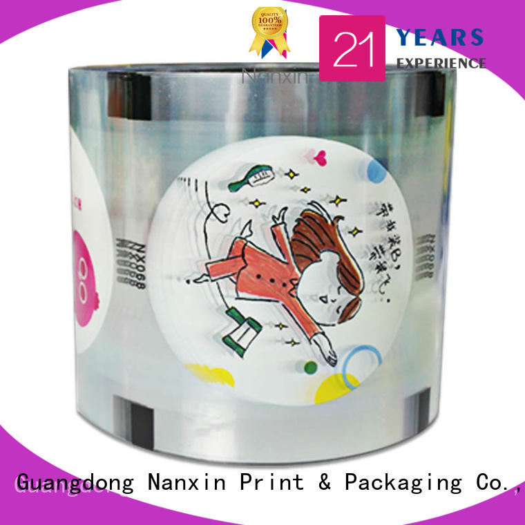 Nanxin Print & Packaging oxygen proof cup sealer film for business for drinks