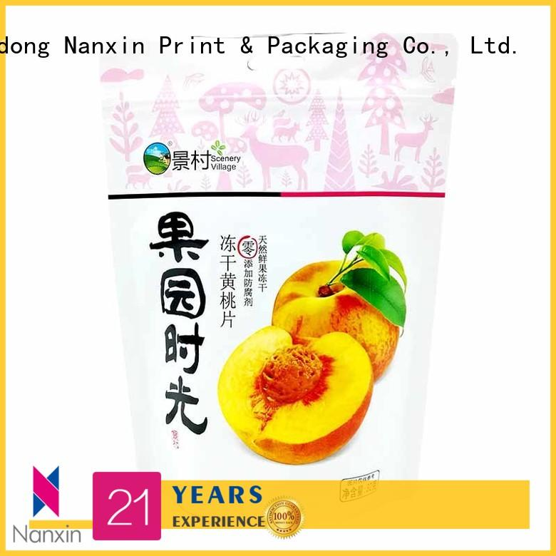 Latest stand up pouch bag plastic manufacturers for dried fruit or vegetable