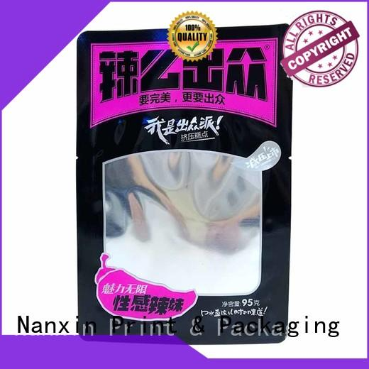Nanxin Print & Packaging oxygen proof food packaging pouches innovative pattern snacks