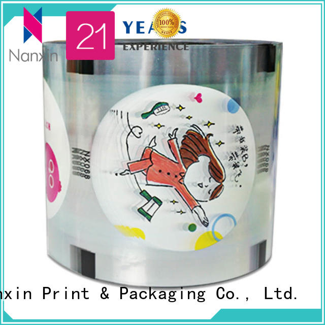 Nanxin Print & Packaging fashion cup sealing film food grade material jelly