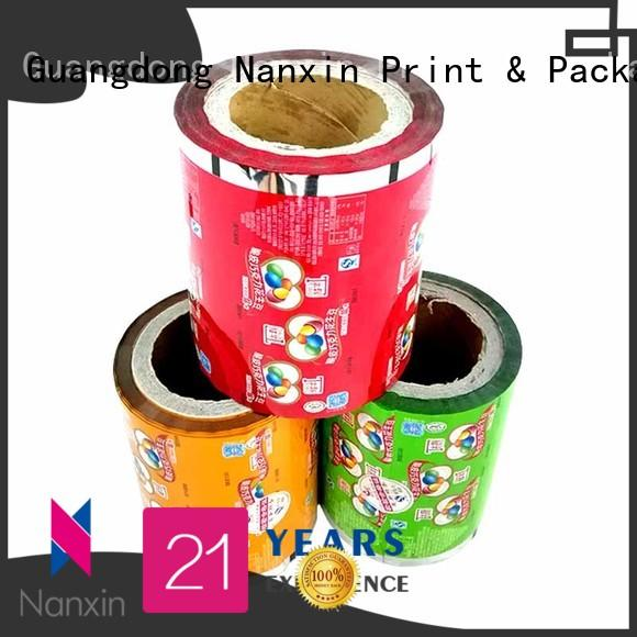 Latest food packaging film automatic printed suppliers for pudding