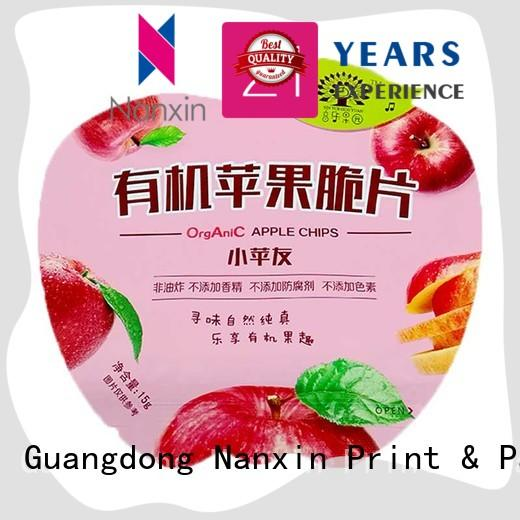 Nanxin Print & Packaging innovative pattern food packaging pouches strong sealing snacks