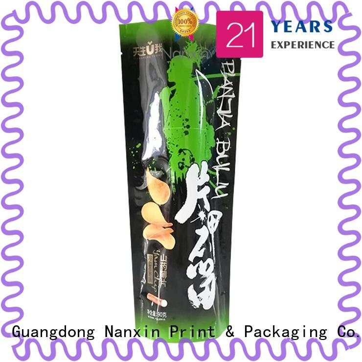 Nanxin Print & Packaging resealed zipper stand up zipper bag manufacturers for dried fruit or vegetable