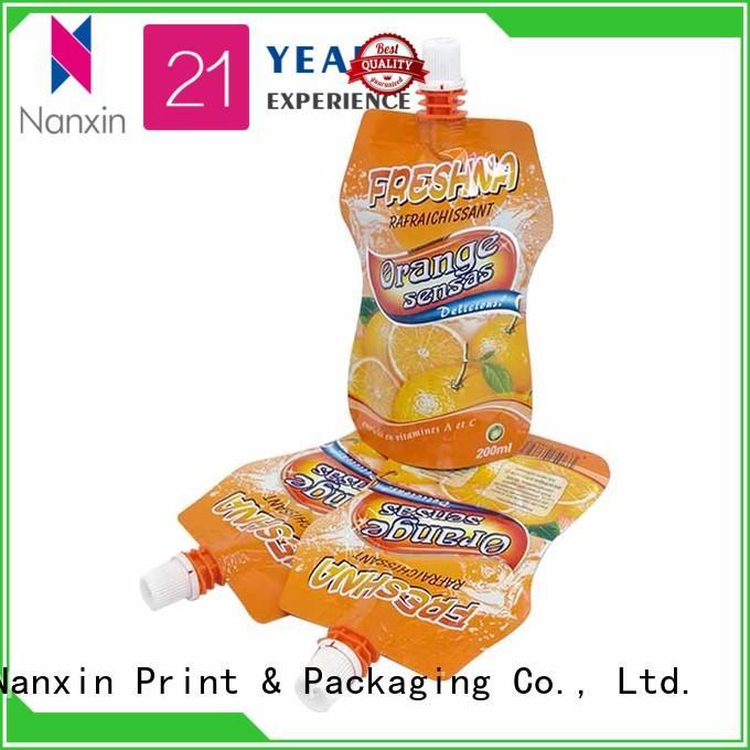 convenient usedspout poucheslaminated films high capacityyoghurt