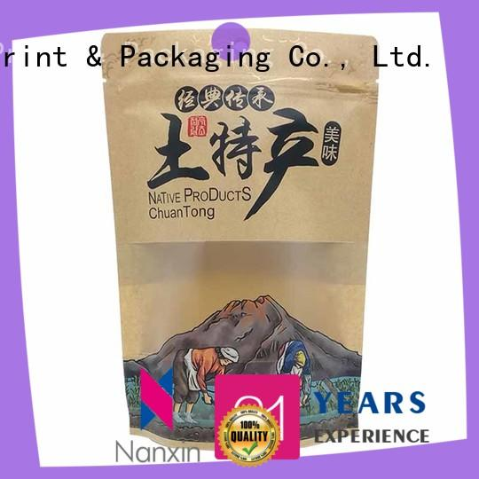 Nanxin Print & Packaging Top stand up zipper bag supply for dried fruit or vegetable