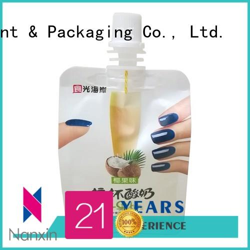 Nanxin Print & Packaging Custom liquid spout bag for business for lotion
