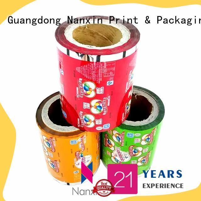 Nanxin Print & Packaging pet/vmpet/pe printed plastic roll supply for candy