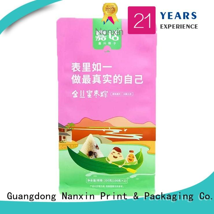 Nanxin Print & Packaging customized flat bottom gusset bags attractive foods