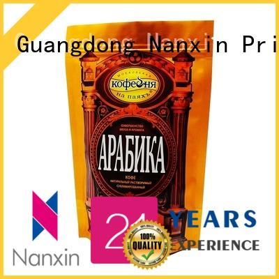 Nanxin Print & Packaging soft stand up zipper bag supply for dried fruit or vegetable