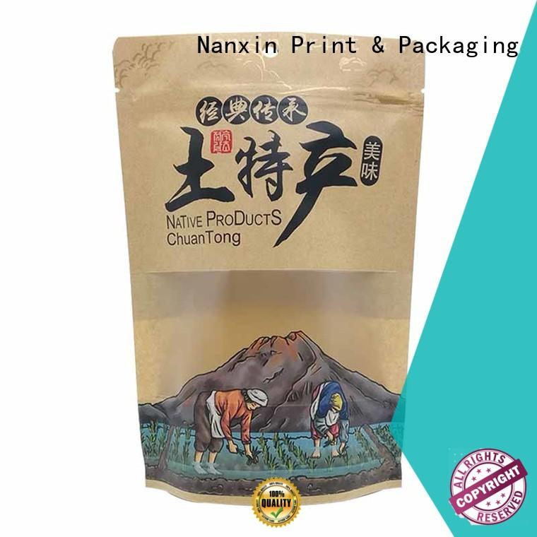 Nanxin Print & Packaging colorful stand up pouch packaging long shelf life dried fruit or vegetable