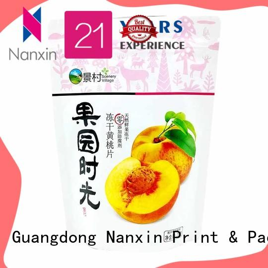 Nanxin Print & Packaging special shape stand up pouch nice color printing dried fruit or vegetable