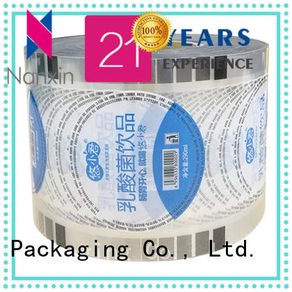 Nanxin Print & Packaging Top bubble tea sealing film factory for jelly