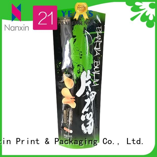 Top stand up pouch bags zipper manufacturers for dried fruit or vegetable