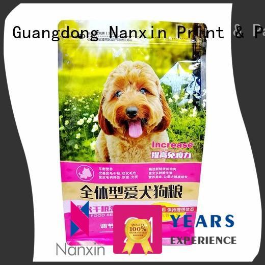 Nanxin Print & Packaging zipper flat bottom bag bright printing foods
