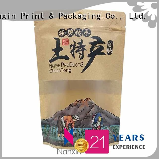 Latest stand up pouch bags zipper manufacturers for dried fruit or vegetable