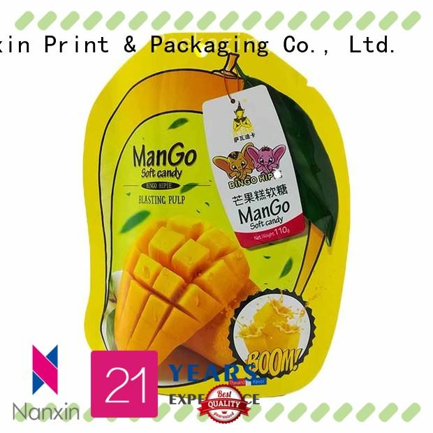 Top stand up pouch special shape manufacturers for dried fruit or vegetable