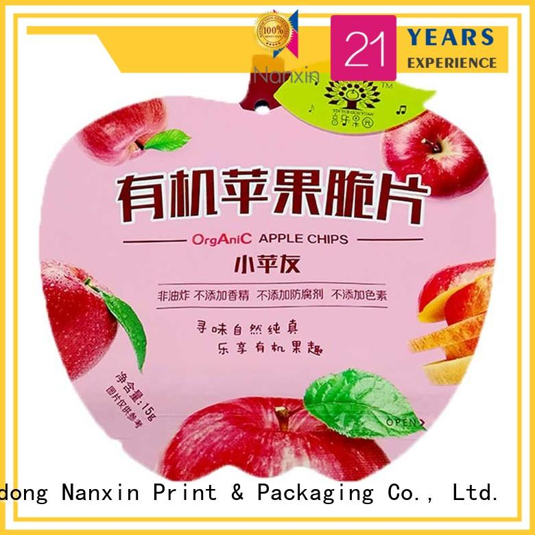 Nanxin Print & Packaging pet/pe pouch packaging supply for snacks
