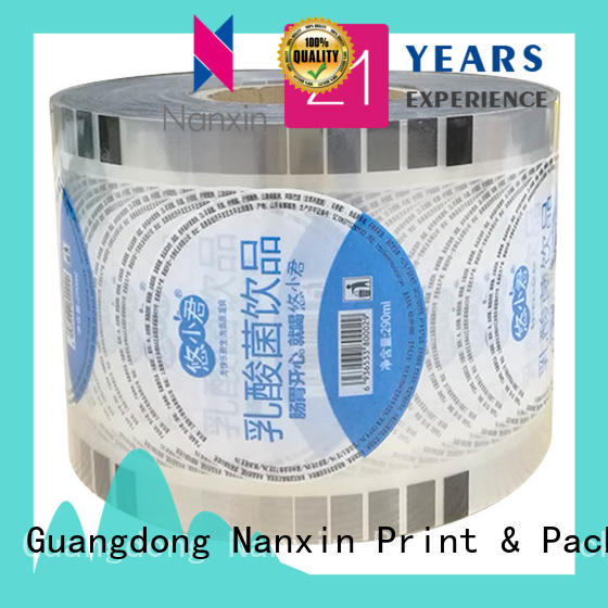 Nanxin Print & Packaging semi-transparent plastic cup sealing film for business for shop mall