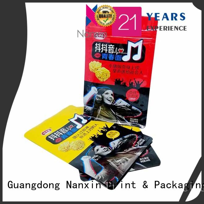 Nanxin Print & Packaging paper gusset pouch company for snack