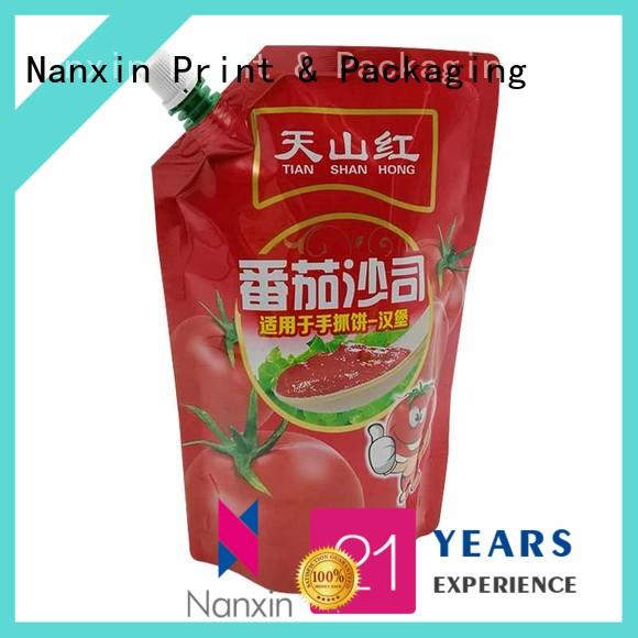 Nanxin Print & Packaging special shape spout pouch flexible juice