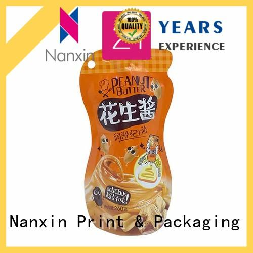 novel pattern liquid stand up pouch flat bottom lotion Nanxin Print & Packaging
