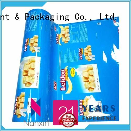 Nanxin Print & Packaging Latest printed film packaging company for pudding
