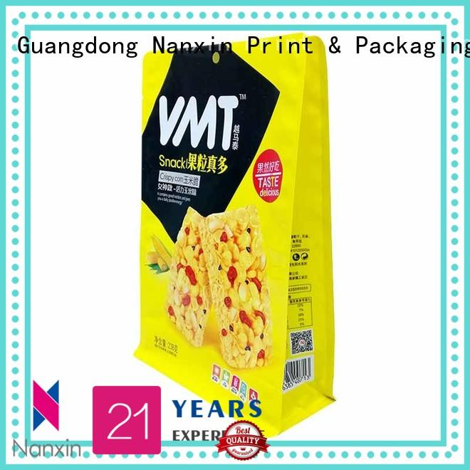 Nanxin Print & Packaging heat seal flat bottom gusset bags suppliers for foods