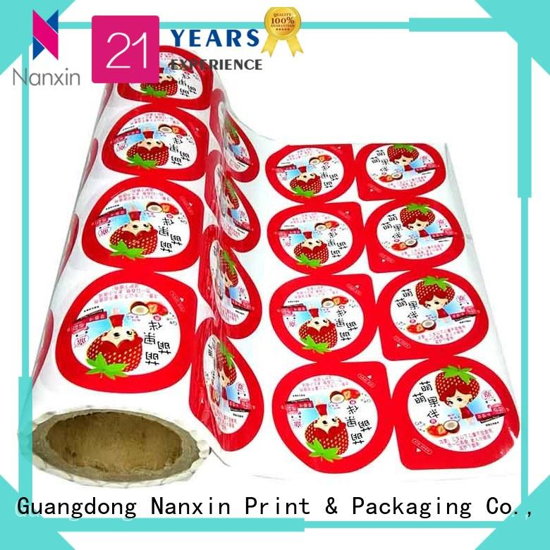New printed plastic roll metallic luster supply for pudding