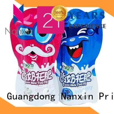 fashionable flexible pouches packaging transparent strong sealing snacks