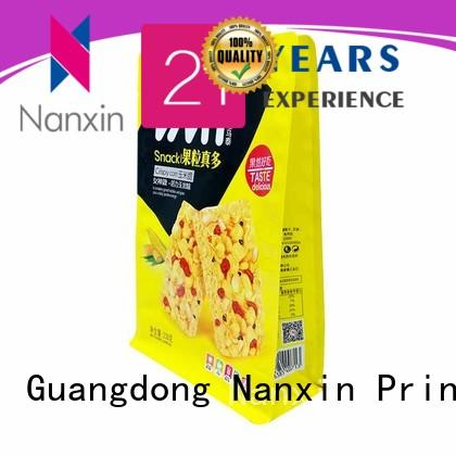 Nanxin Print & Packaging pet/pe flat bottom gusset bags suppliers for cookies