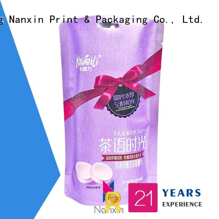 Nanxin Print & Packaging innovative pattern packaging pouches suppliers for snacks
