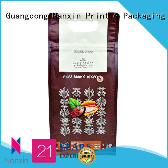 Nanxin Print & Packaging flat bottom shape flat bottom pouch supply for cookies