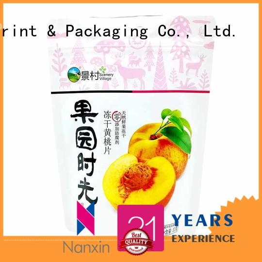 Nanxin Print & Packaging Latest stand up pouch bag company fpr snacks